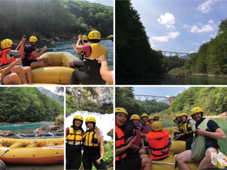 rafting teambuilding LKnet Montenegro Tara software company development